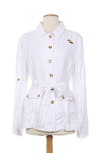 bleu salé vestes femme de couleur blanc