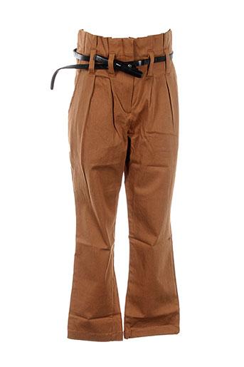 orchestra pantalons fille de couleur marron