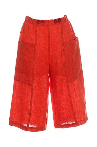 ralston pantacourts femme de couleur orange