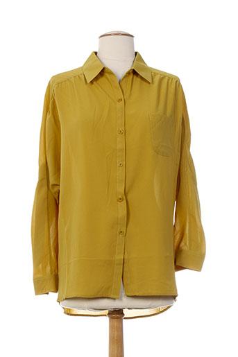 tricotonic chemises femme de couleur jaune