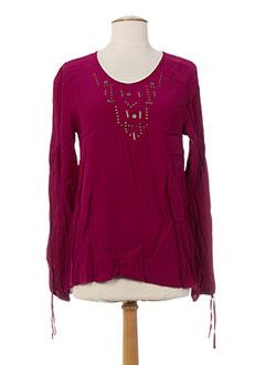 T-shirt manches longues rose MADO ET LES AUTRES pour femme