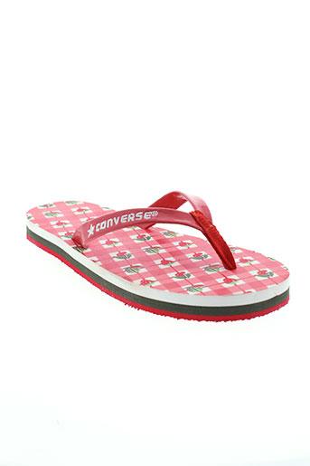 converse chaussures fille de couleur rouge