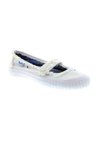 keds chaussures femme de couleur blanc