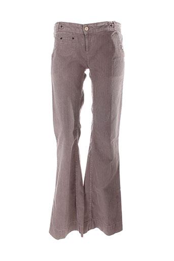 school rag pantalons femme de couleur marron