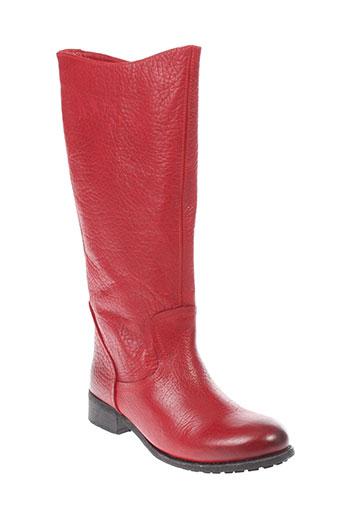 minka et design bottes femme de couleur rouge