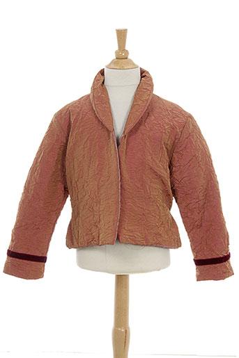 contre vents et marees vestes fille de couleur rose