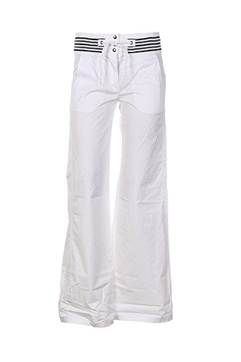 chipie pantalons femme de couleur blanc