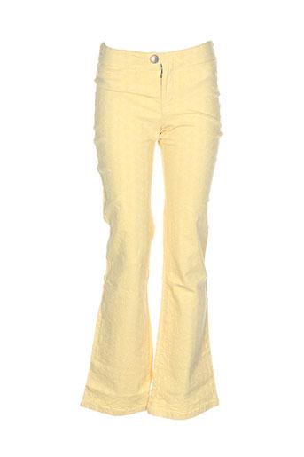 liberto pantalons fille de couleur jaune