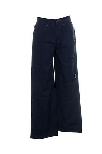 ddp pantalons garçon de couleur bleu