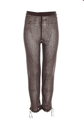 lili gaufrette pantalons fille de couleur marron