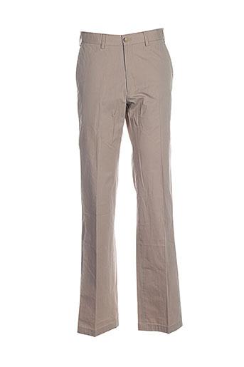 Pantalon casual beige DANIEL HECHTER pour homme