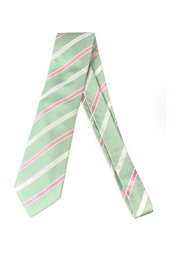 daniel et hechter cravates homme de couleur vert