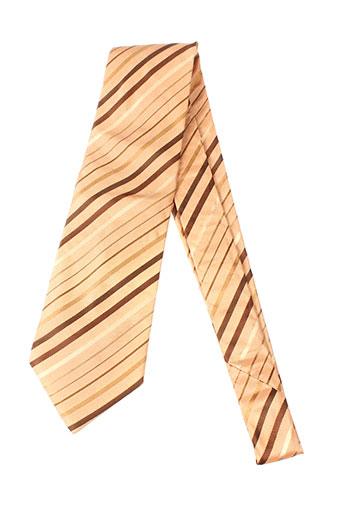 daniel et hechter cravates homme de couleur marron