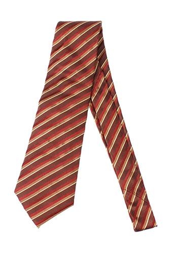 Cravate marron DANIEL HECHTER pour homme
