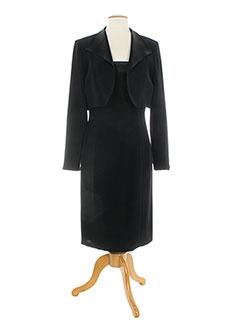 Robe mi-longue noir CHRISTIE DE LA RUE pour femme