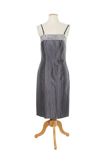 Robe mi-longue gris CHRISTIE DE LA RUE pour femme