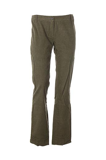 zyga pantalons et decontractes femme de couleur vert