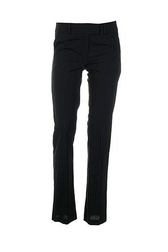 lola pantalons femme de couleur noir