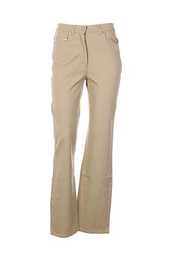 daniel hechter pantalons femme de couleur beige