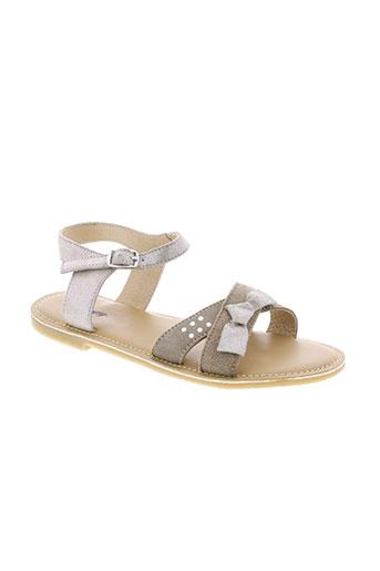 bopy sandales et nu et pieds fille de couleur gris