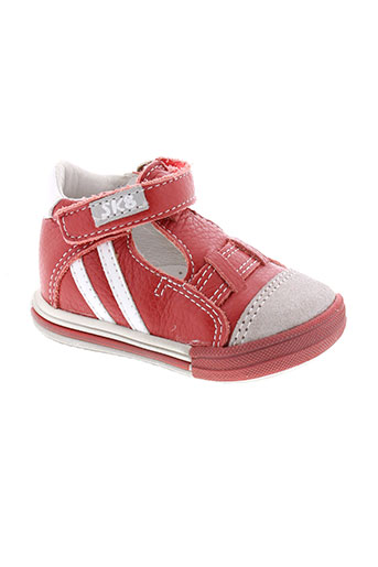 bopy chaussures garçon de couleur rouge