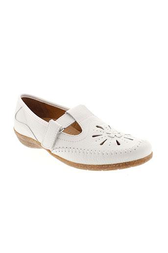 la vague chaussures femme de couleur blanc