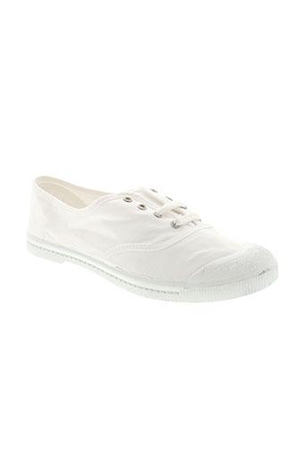 la et vague baskets femme de couleur blanc
