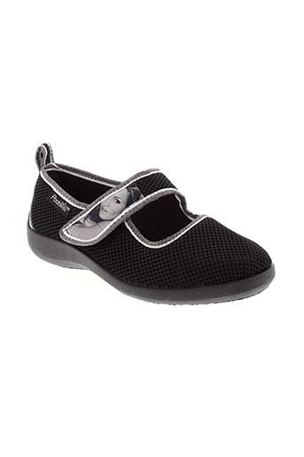 podowell chaussons femme de couleur noir