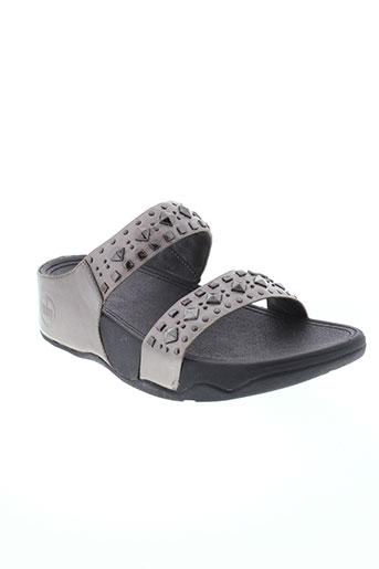 fitflop chaussures femme de couleur gris