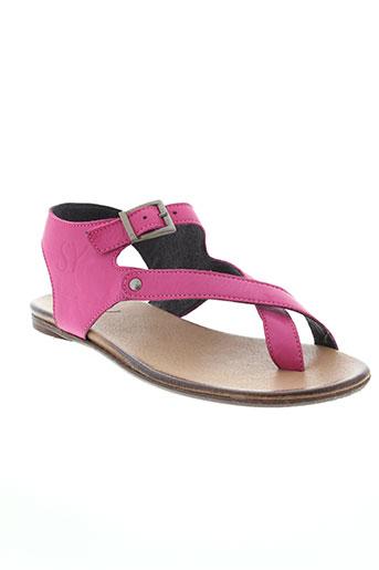 see et you et jane sandales et nu et pieds femme de couleur rose