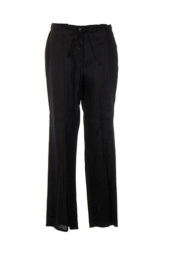 rhapsodie pantalons femme de couleur noir