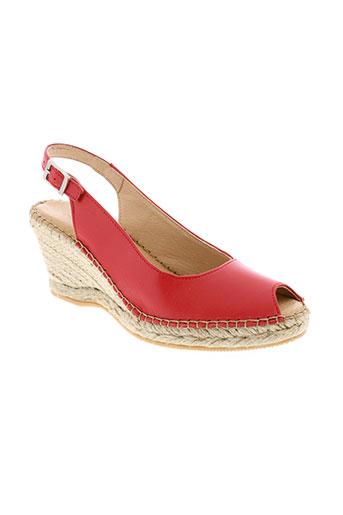 la et maison et de et l et espadrille sandales et nu et pieds femme de couleur rouge