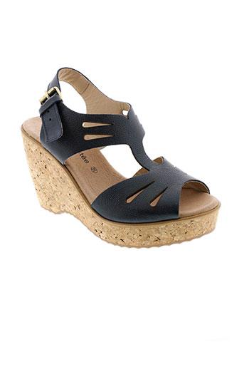 la et fee et maraboutee sandales et nu et pieds femme de couleur bleu