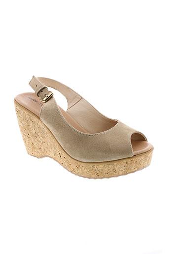 la et fee et maraboutee sandales et nu et pieds femme de couleur beige