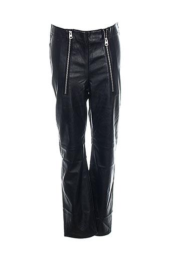 cheap monday pantalons femme de couleur noir