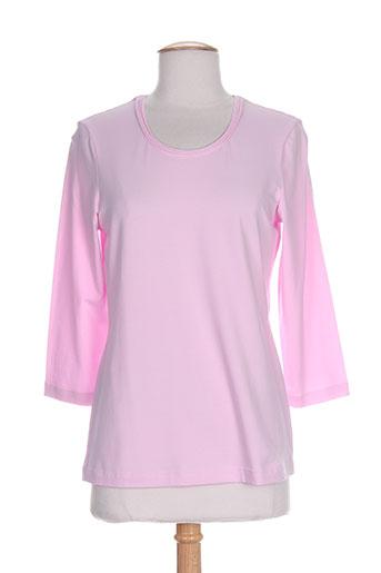 erfo t-shirts femme de couleur rose