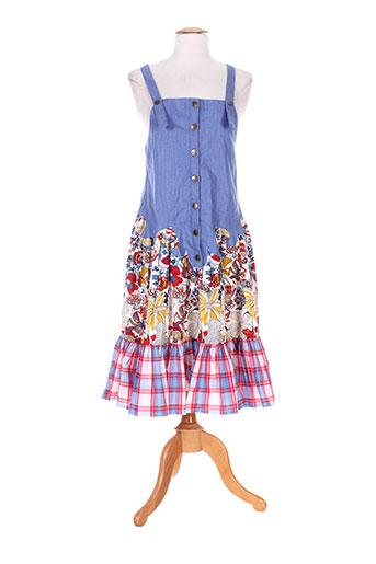 zoe la fee robes femme de couleur bleu