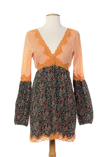 zoe et la et fee tuniques femme de couleur orange