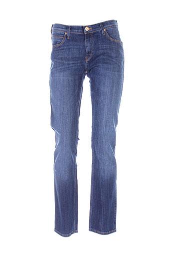 lee jeans femme de couleur bleu
