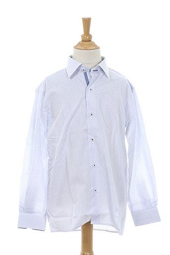 xoos chemises garçon de couleur bleu