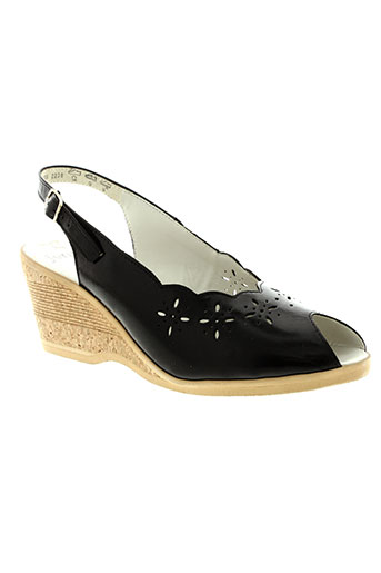 ara sandales et nu et pieds femme de couleur noir
