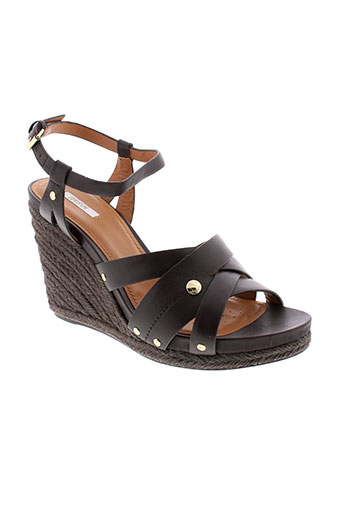 geox sandales et nu et pieds femme de couleur marron