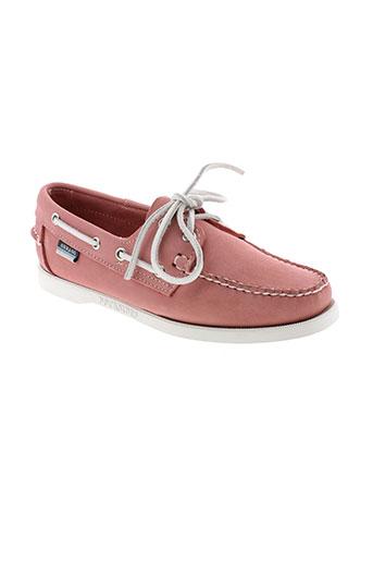 sebago mocassins femme de couleur rose