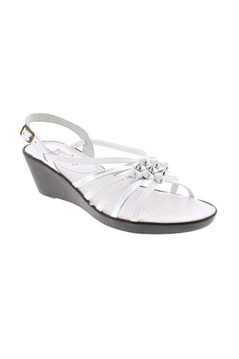 le et routard sandales et nu et pieds femme de couleur blanc