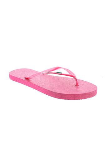 laulina tongs femme de couleur rose