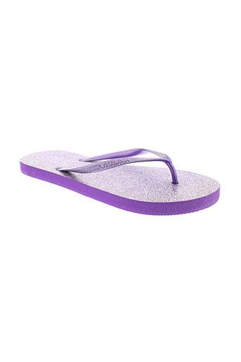 laulina tongs femme de couleur violet