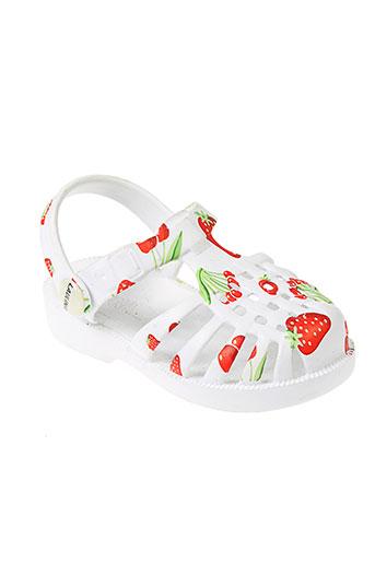 laulina sandales et nu et pieds fille de couleur blanc