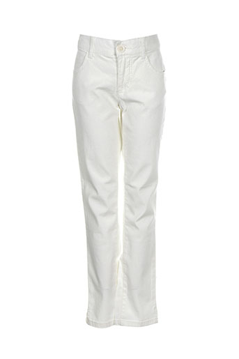 benetton pantalons garçon de couleur blanc