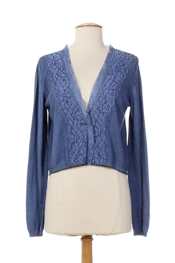 i blues vestes femme de couleur bleu