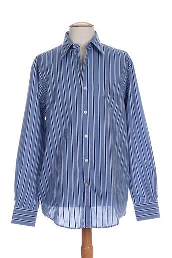 ecce chemises homme de couleur bleu